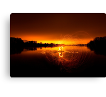 Middle of the lake  Canvas Print