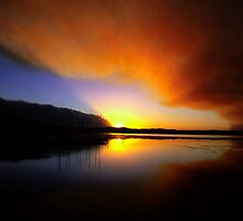 Bushfire Sunset by John Brumfield