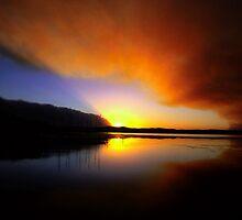 Bushfire Sunset by John Brumfield