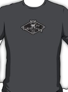 Ultimate Pi Day 2015. Pi. Pie. Black version this time. T-Shirt