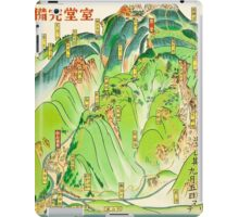 Rolling Hills Japanese Travel Poster iPad Case/Skin