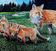 A Sly Foursome On The Fairway by Garaga