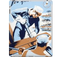 Build For Your Navy iPad Case/Skin