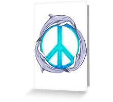Dolphin Peace Greeting Card
