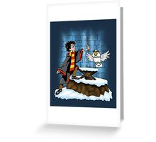 Wand and the Wizard Greeting Card