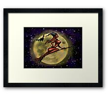Sexy Witch Framed Print
