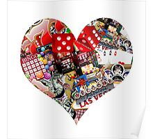 Heart - Las Vegas Playing Card Shape  Poster