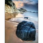 Whiterocks Beach scene by jimfrombangor