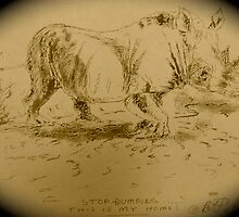 Rhino Art by Bonnie Pelton by Bonnie Pelton