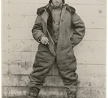 Airmail pilot William C. Hopson in winter flying clothing, ca. 1926 2 by Adam Asar