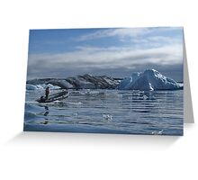 Boat on the Jokursarlon lagoon Greeting Card
