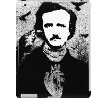 Poe with Ravens and Heart, transparent background iPad Case/Skin