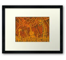 Notable Necks Framed Print