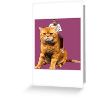 Tyler, the Creator riding cat Greeting Card