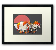 Pokemon Equestrian Framed Print