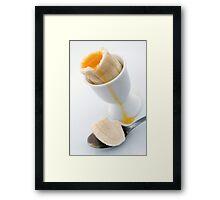 Soft Boiled Banana Framed Print