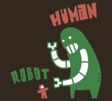 Robot v Human by jumpy