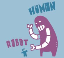 Robot v Human v2 by jumpy