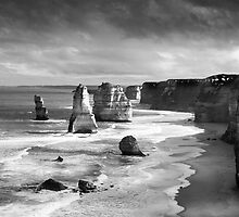 Tweleve Apostles with Ansel Adams effect by ©Josephine Caruana