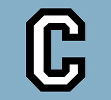 Letter C two-color by theshirtshops