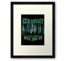 Never Gonna Give You Up - Rick Astley Framed Print