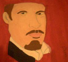 My huge canvas portrait of Derren Brown by lollipopgirl