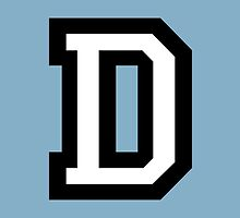 Letter D two-color by theshirtshops