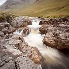 River Etive in flow by Christopher Cullen