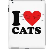 Funny - I Love Cats with moustache iPad Case/Skin