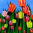 &quot;Tulips&quot; original  springtime floral painting by Michael Arnold