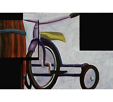 """""""Trike & Barrel"""" original trypytch artwork Photographic Print"""