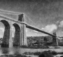 Menai Suspension Bridge by Ian Mitchell