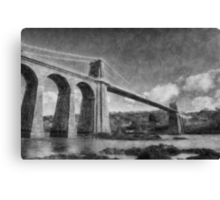 Menai Suspension Bridge Canvas Print