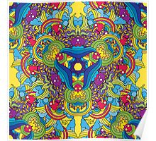 Psychedelic jungle kaleidoscope ornament 35 Poster