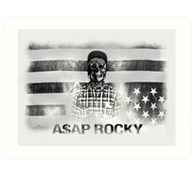 A$AP ROCKY BLACK\WHITE SKULL Art Print