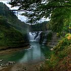 Letchworth - Trestle over Upper Falls by LocustFurnace