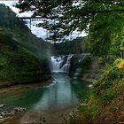 Letchworth - Trestle over Upper Falls by LocustFurnace