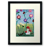 Garden of Imagination Toadstools Framed Print