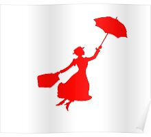 Red Miss Poppins  Poster