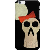 little miss skull  iPhone Case/Skin
