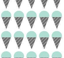 Icecream - Mint, Nautical, Minimal, Simple, Design, Pattern, Trendy, Cool, Simple, Modern by charlottewinter