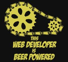 THIS WEB DEVELOPER IS BEER POWERED by BADASSTEES