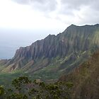 Kalalau Vally from a different angle by Ken Kusaka