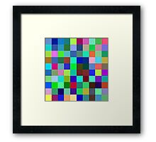 Yesterday blue, Today green, Tomorrow Purple Framed Print