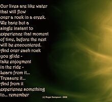 Like a rock in a creek by Roger Sampson