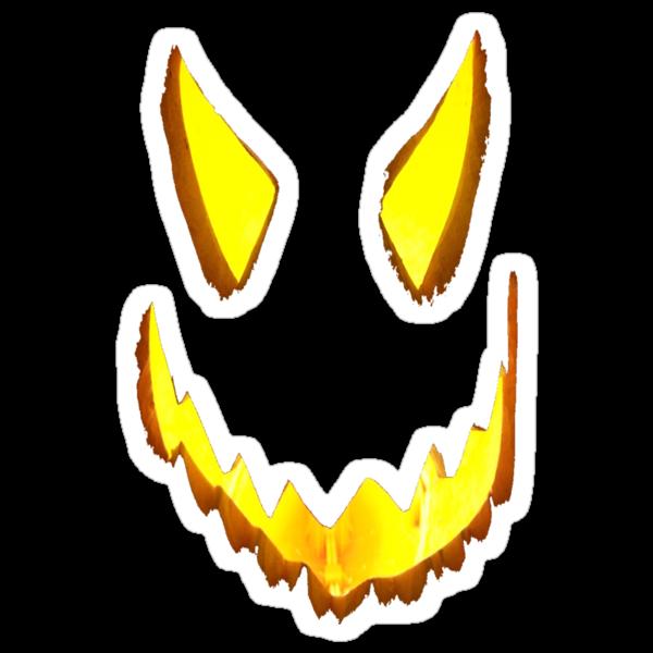 Yellow Halloween Pumpkin Face by Jonice