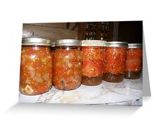 Quarts of Stewed Tomatoes Greeting Card