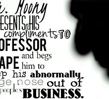 Mr Moony Presents His Compliments by beemckay