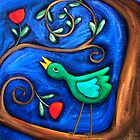 PASAREA  MAIASTRA  1  ( MIRACULOUS  BIRD  1 ) by ART PRINTS ONLINE         by artist SARA  CATENA