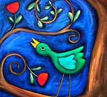 PASAREA  MAIASTRA  1  ( MIRACULOUS  BIRD  1 ) by ART PRINTS ONLINE         by artist SARA  CATENA